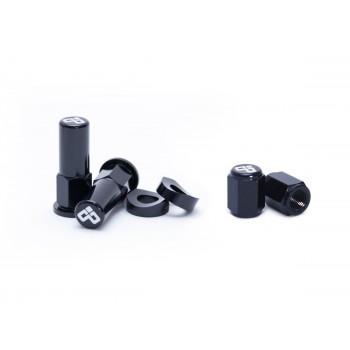DUBYA RIM LOCK / TOWER NUT / VALVE CAP KIT BLACK