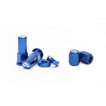 DUBYA RIM LOCK / TOWER NUT / VALVE CAP KIT BLUE