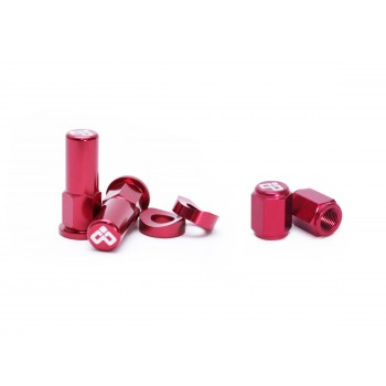 DUBYA RIM LOCK / TOWER NUT / VALVE CAP KIT RED