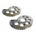 Raptor Titanium Rear Wheel Adjusters 17mm Spindle