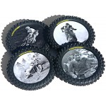 Smooth Industries Legends Series Knobby Tire Drink Coasters 4pk